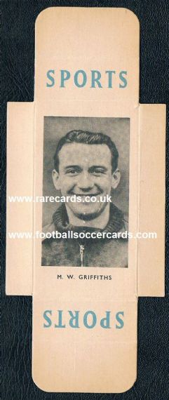 1950 William Mal Griffith Arsenal Leicester
